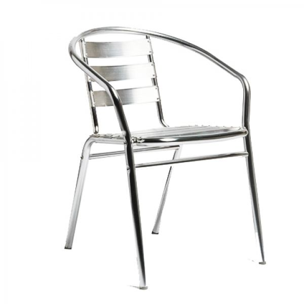 Cadeira Alegro para Ambiente Externo R-100 de  Alumínio Anodizado