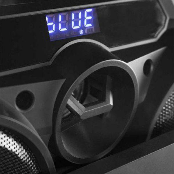 Caixa Amplificada Novik TWISTER 4, 300W, Bluetooth, USB, Micro SD Card, 2 Entradas Para Microfone de Cabo, Microfone Karaoke e Cabo Incluso, Luzes Audiométricas.
