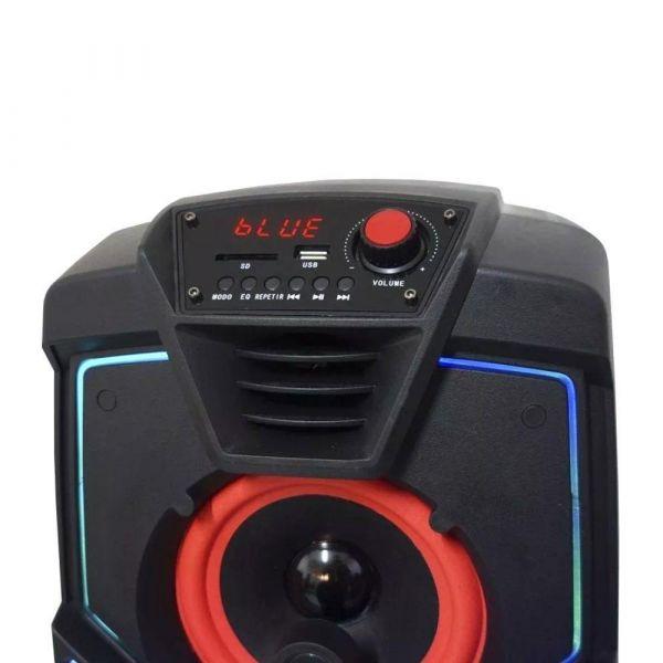 Caixa de som Amplificada Amvox ACA 200 Turbo com Bluetooth Entrada USB Entrada Auxiliar 200W