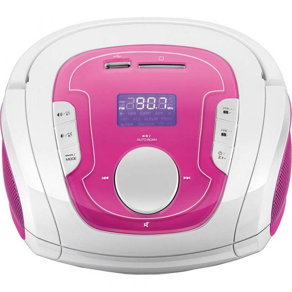 Caixa de Som Bluetooth Multilaser SP187  Branco e Rosa