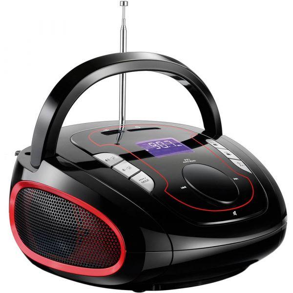 Caixa de Som Bluetooth Multilaser SP186 Preto e Vermelho