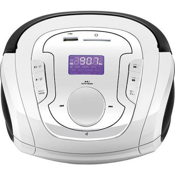 Caixa de som Multilaser Boombox Bluetooth 5 em 1 Branco e Preta - SP185