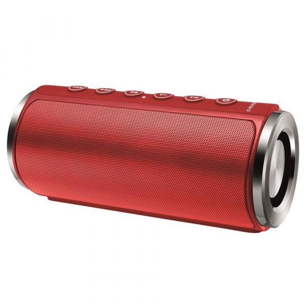 Caixa de Som Portátil Mondial Vibe One Speaker SK-03 com Bluetooth, Entrada USB e Micro SD Vermelha 20W