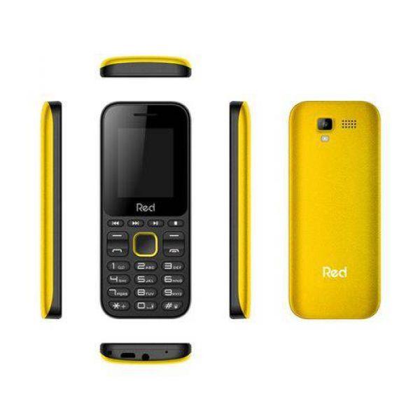 Celular Red Mobile Fit Music Preto/Amarelo M011F