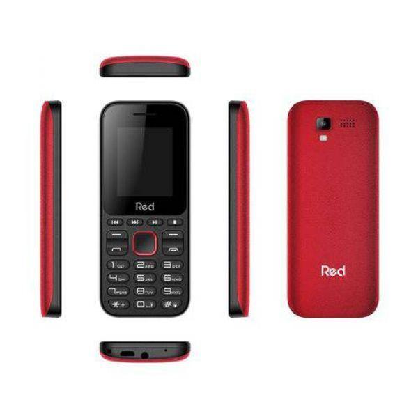 Celular Red Mobile Fit Music Preto/Vermelho M011F