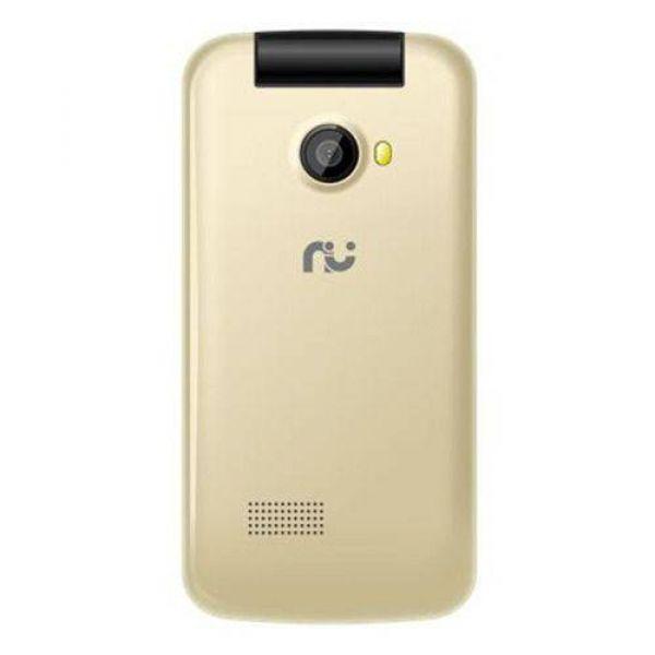 Celular Riu Flip Desbloqueado 2.4 2 Chips Radio Dourado