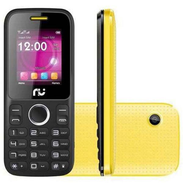 Celular Riu R200 Desbloqueado Radio 2 Chips Preto/Amarelo