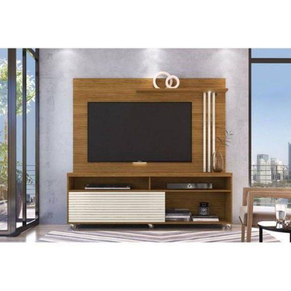 Rack com Painel Frizz para TV até 65 Madetec Naturale/Off White
