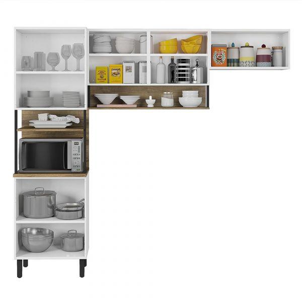Cozinha Compacta Bali Itatiaia 3 peças Branca/Matte