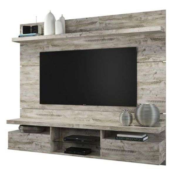Estante Home Suspenso Livin 1.6 para Tv de até 55 polegadas Aspen - Hb Móveis