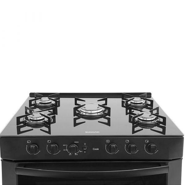 Fogão de Piso Suggar Cook FGV500 5 Queimadores - Preto