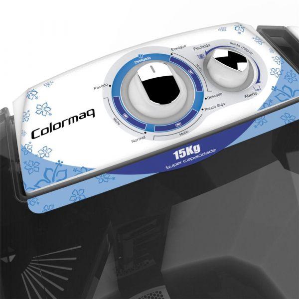 Lavadora Colormaq LCM 15KM Branco/Azul
