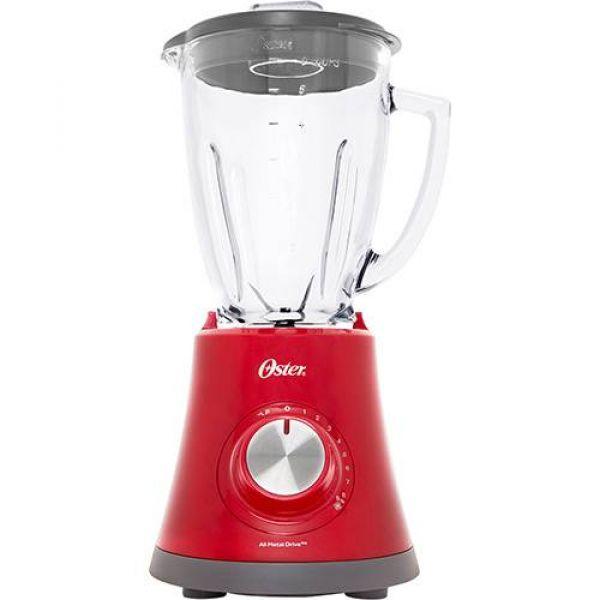 Liquidificador Oster Super Chef 750W com Jarra De Vidro 1,25 Litros 8 Velocidades Vermelho