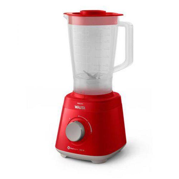 Liquidificador Philips Walita Ri2110 Daily Copo De Plástico 2 Velocidades + Pulsar 550w Vermelho