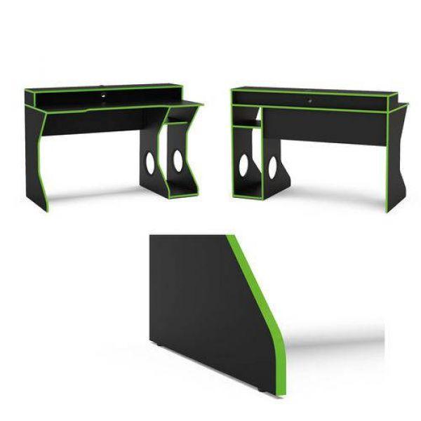 Mesa para Computador Politorno Fremont Preto/Verde