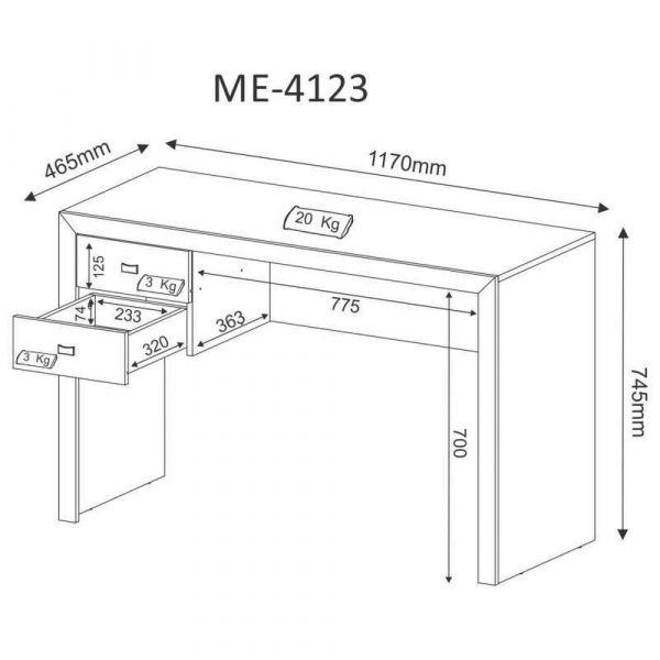 Mesa Para Computador Tecno Mobili Me4123 Com 2 Gavetas Nogal