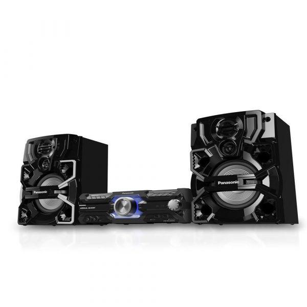 Mini System Panasonic SC-AKX710LBK, 2 USB, Bluetooth, Wireless Média, 1800W RMS
