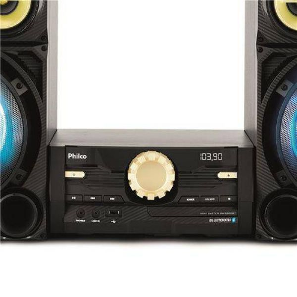 Mini System Philco PH1800BT com Bluetooth, Rádio FM, CD e Entrada USB 1600W
