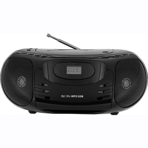 Rádio Philco com CD MP3 USB PB-119N Preto