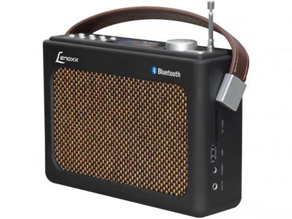 Rádio Portátil Lenoxx FM 10W Display Digital - RB 90 Bluetooth