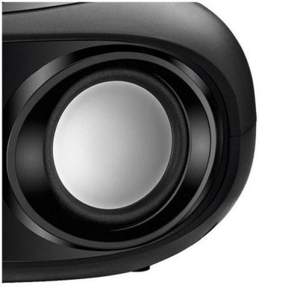 Rádio Portátil Mondial Boom Box FM Bluetooth Entrada USB Aux BX-19 Preto com Laranja
