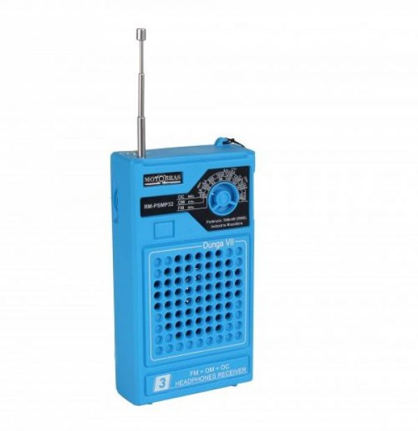 Rádio Portátil Motobras AM/FM RMSMP-32 Azul