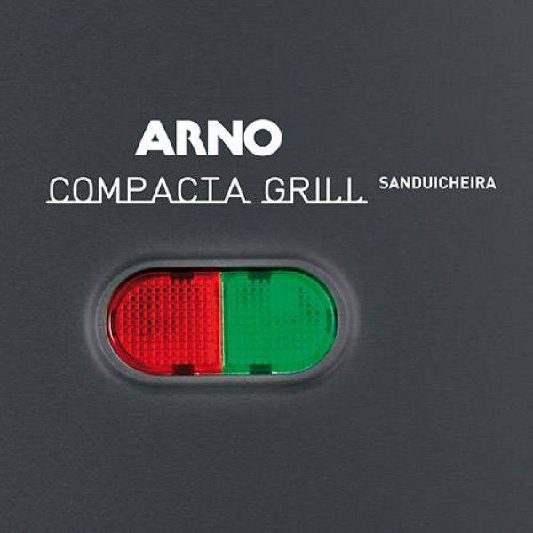 Sanduicheira Arno Compacta Grill Preta SACP 220V