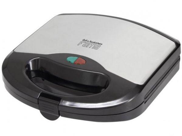 Sanduicheira Fama FGR01PI Preto/Inox 700W Antiaderente Controle de Temperatura
