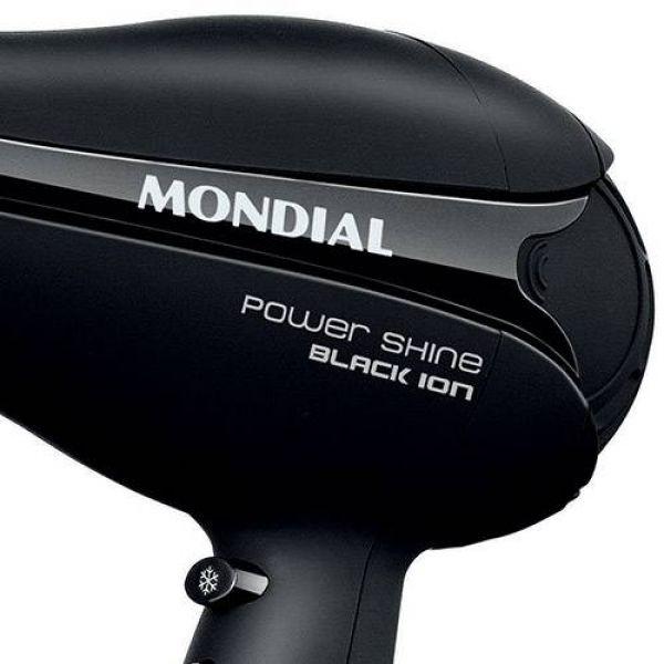 Secador de Cabelo Mondial Pow Shine Ion SC13 Preto