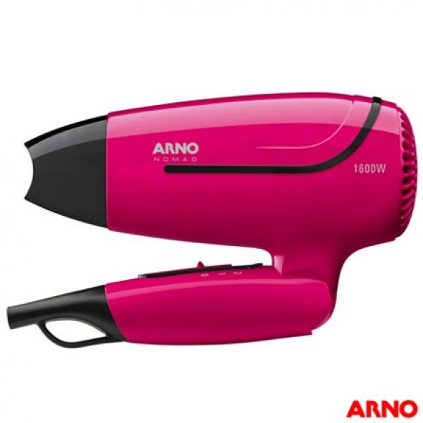 Secador de Cabelo Arno Nomad com 02 Velocidades e 1600W Rosa Noma