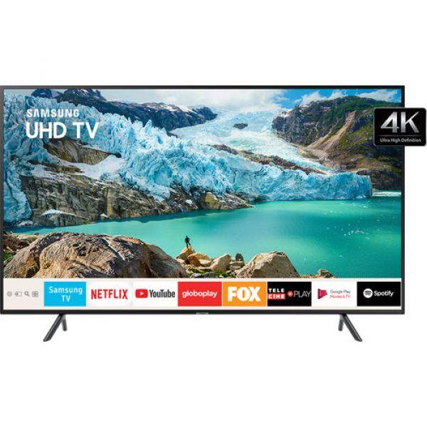 Smart TV 4K LED 50 Samsung UN50RU7100 Wi Fi HDR 3 HDMI 2 USB