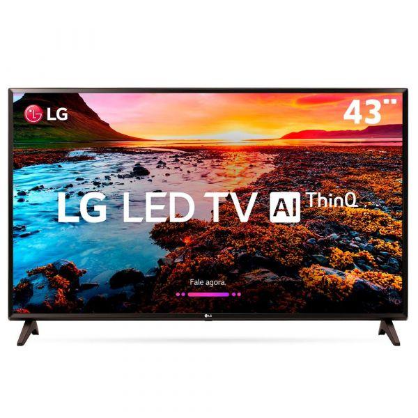 Smart TV LED 43 Full HD LG 43LK5750PSA com IPS, Inteligência Artificial ThinQ AI, WI-FI, Processador Quad Core, HDR 10 Pro, HDMI e USB