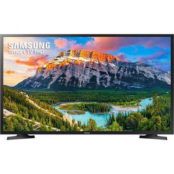 Smart TV LED 43 Samsung 43J5290 Full HD com Conversor Digital 2 HDMI 1 USB Wi-Fi Screen Mirroring Web Browser Preta