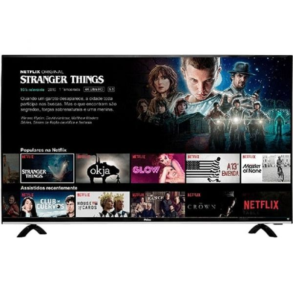 Smart TV LED 49 Philco PTV49E68DSWN Full HD com Conversor Digital 3 HDMI 1 USB Wi-Fi 60Hz Preta