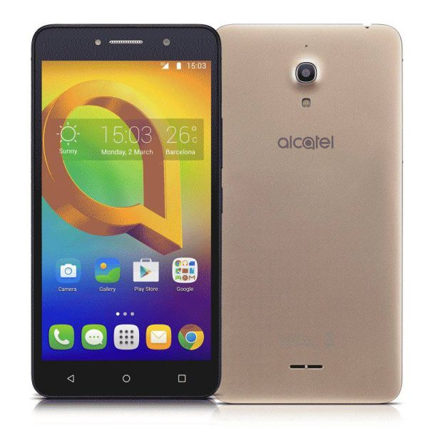 Smartphone Alcatel A2 XL HD Dourado Tela de 6 IPS HD 16GB 1GB RAM Quad-Core Câmera 13MP Frontal de 8MP Android 5.1