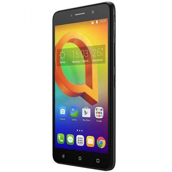 Smartphone Alcatel A2 XL HD Preto Tela de 6 IPS HD 16GB 1GB RAM Quad-Core Câmera 13MP Frontal de 8MP Android 5.1