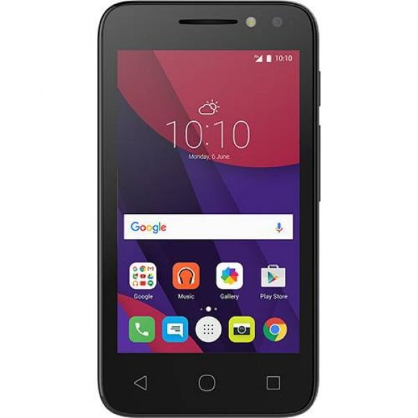 Smartphone Alcatel PIXI4 4034E Dual Chip Android 6.0 Tela 4 Memória 8GB 3G Câmera 8MP Selfie 5MP Flash Frontal Quad Core Preto
