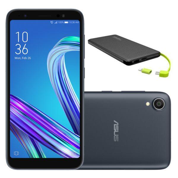 Smartphone Asus Zenfone Live L1 ZA550KL 32GB Dual Chip Tela 5.5 4G Wi-Fi 13MP Preto + Carregador Portátil Power Bank