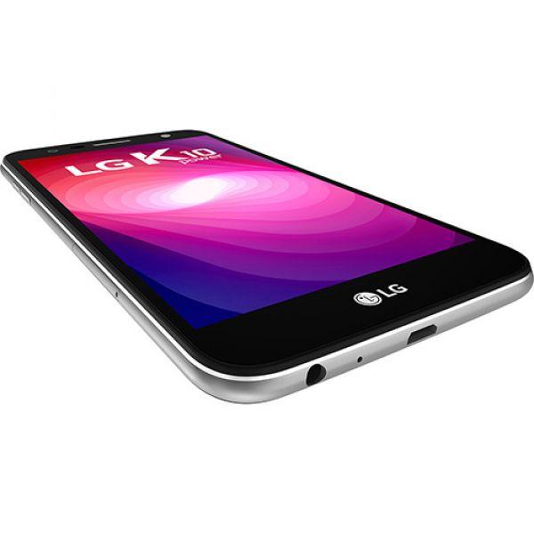Smartphone LG K10 Power Dual Chip Android 7.0 Tela 5,5 Octacore 32GB 4G Wi-Fi Câmera 13MP  Titânio