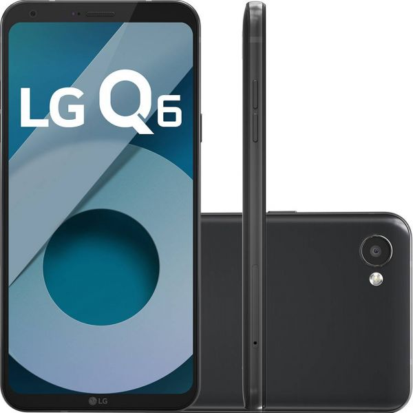 Smartphone LG Q6 Dual Chip Android 7.0 Tela 5.5 Full Hd+ Octacore 32GB 4G Câmera 13MP Preto