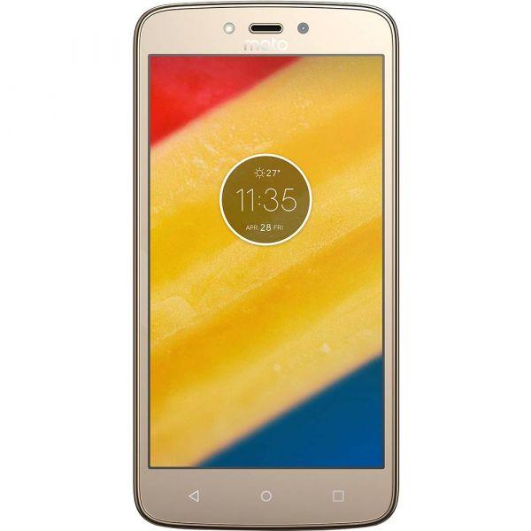 Smartphone Motorola Moto C Plus Dual Chip Android 7.0 Tela 5 Quad-Core 16GB 4G Wi-Fi Câmera 8MP Dourado