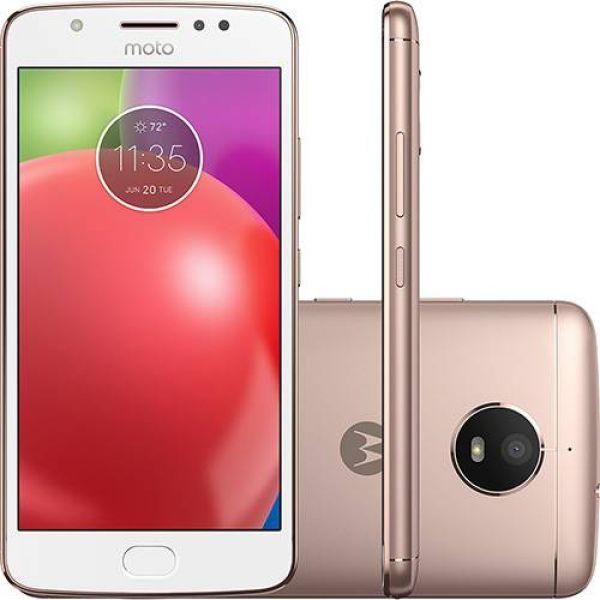 Smartphone Motorola Moto E4 Dual Chip Android 7.1 Nougat Tela 5 Quad-Core 1.3GHz 16GB 4G Câmera 8MP  Ouro Rose