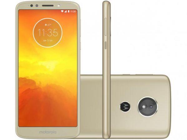 Smartphone Motorola Moto E5 16GB Dual Chip Android Oreo 8.0 Tela 5.7 Quad-Core 1.4 GHz 4G Câmera 13MP Ouro