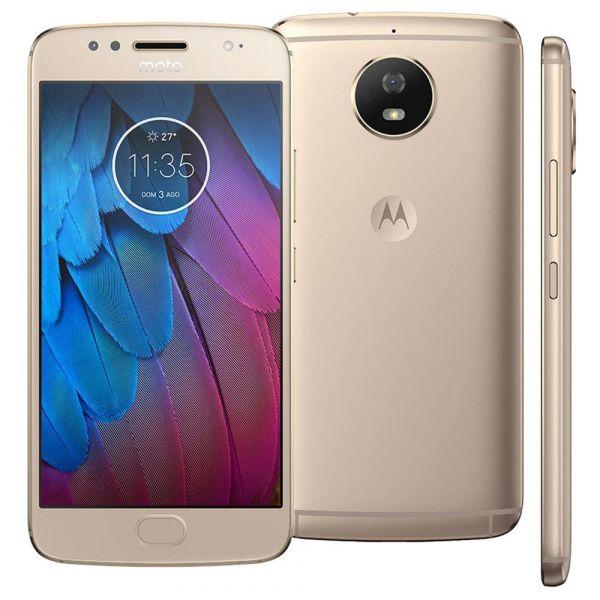 Smartphone Motorola Moto G5s XT1792 Ouro com 32GB, Tela de 5.2, Dual Chip, Android 7.1, 4G, Câmera 16MP, Processador Octa-Core e 2GB de RAM
