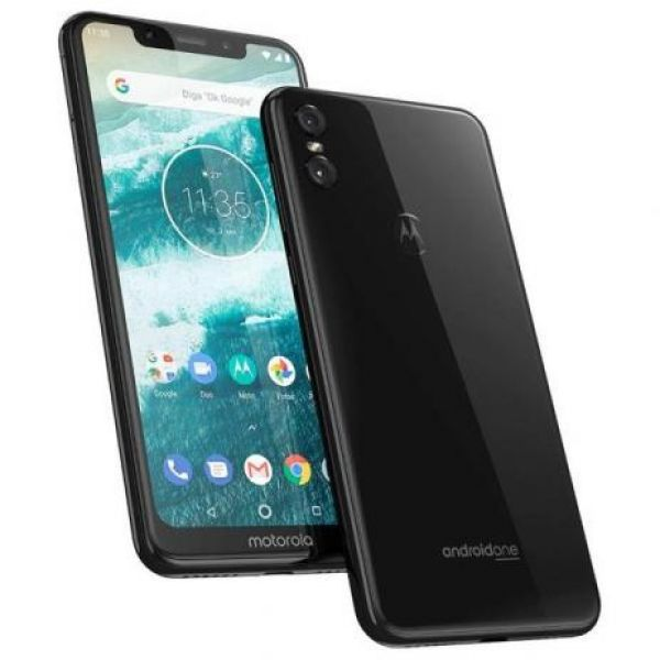 Smartphone Motorola One 64GB Dual Chip Android Oreo 8.1 Tela 5.9 2.0 GHz Octa-Core Qualcomm 4G Câmera 13 + 5MP (Dual Traseira) Preto