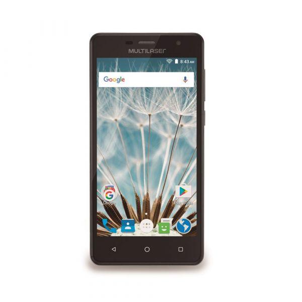 Smartphone MS50S 3G tela 5 dual câmera 5MP, 8MP Android 6.0 Multilaser preto