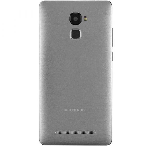 Smartphone MS60F 4G Tela 5,5 Sensor de impressão digital 1GB RAM Dual Chip Android 7 Multilaser Preto/Prata