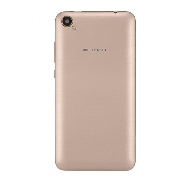 Smartphone Multilaser MS50L 3G Branco/Dourado NB707 - 2 Chips, Tela 5.0, Android 7.0, Q.Core, 1Gb Ram