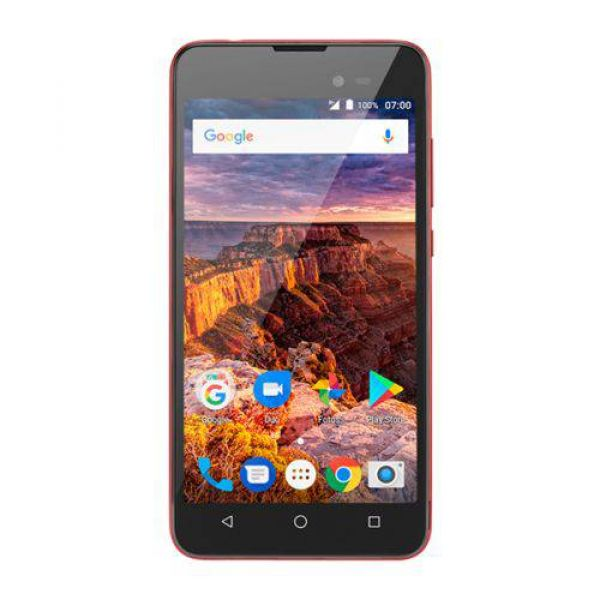 Smartphone Multilaser MS50L 3G Preto/Vermelho NB708 - 2 Chips, Tela 5.0, Android 7.0, Q.Core, 1Gb Ram