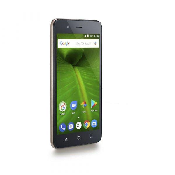 Smartphone Multilaser MS50L 4G Quad Core 1GB RAM Tela 5 Dual Chip Android 7 Dourado/Preto P9061